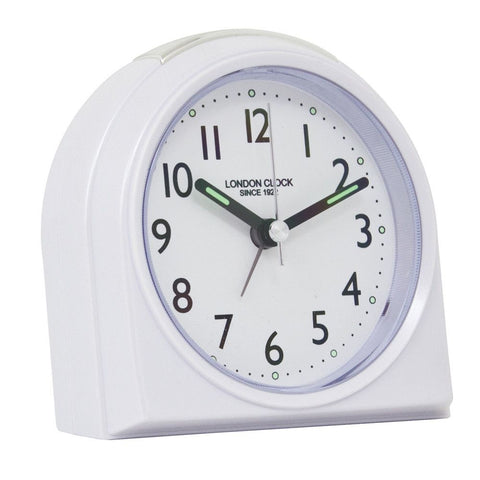 London Clock Co 10cm White Rounded Top Alarm Clock