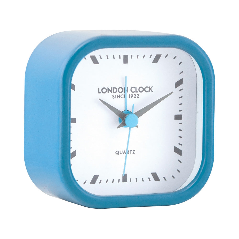 London Clock 1922 7cm Pop Bang Blue Alarm Clock