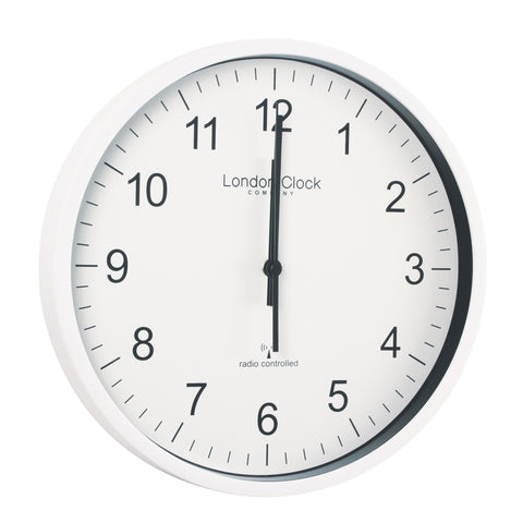 London Clock Co 28cm Simple Radio Controlled Wall Clock