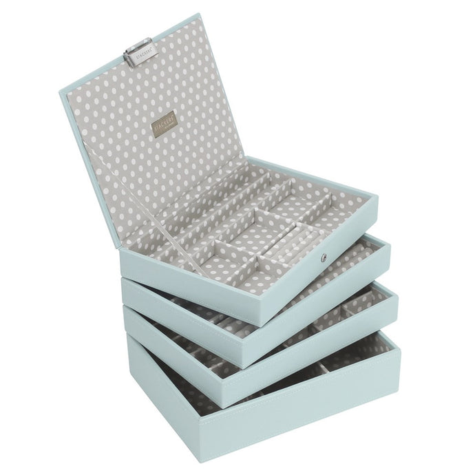 Stackers Set of 4 Blue Grey Medium Stacker Jewellery Trays