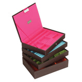 Stackers Set of 4 Brown Medium Stacker Jewellery Trays