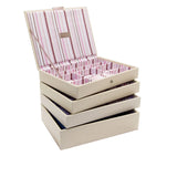 Stackers Set of 4 Cream Stripe Medium Stacker Jewellery Trays