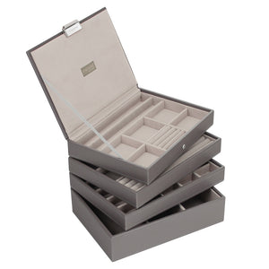 Stackers Mink & Grey Classic Set of 4 Jewellery Trays