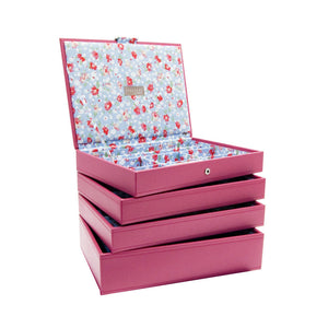 Stackers Set of 4 Hot Pink Medium Stacker Jewellery Trays