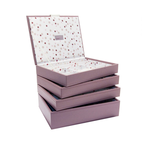 Stackers Set of 4 Pink Spot Medium Stacker Jewellery Trays