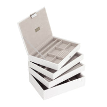 Stackers White & Grey Classic Set of 4 Jewellery Trays