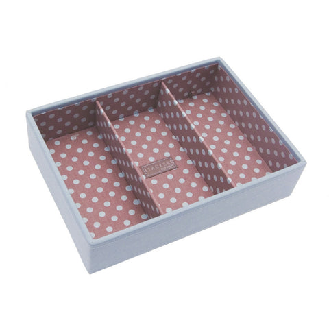 Stackers Medium Blue & Pink Stacker Jewellery Tray -3 Deep Sections