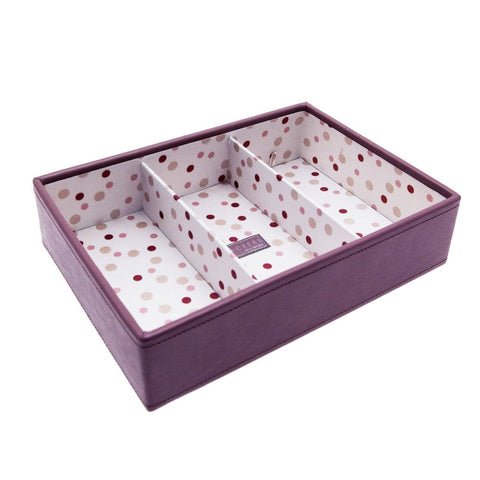 Stackers Medium Pink & Polka Dot Stacker -3 Deep Sections