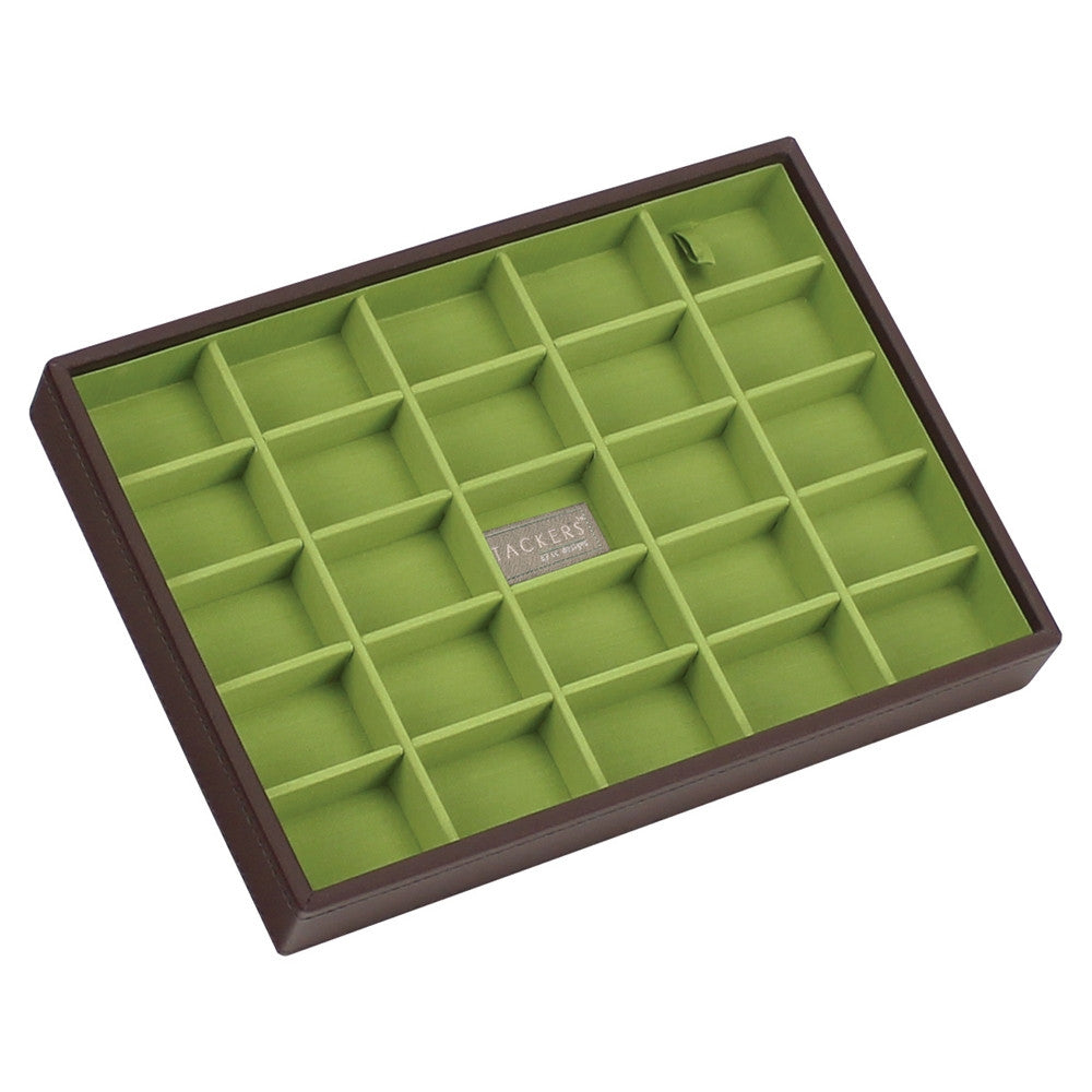 Stackers Chocolate & Brights Classic 25 Section Jewellery Tray