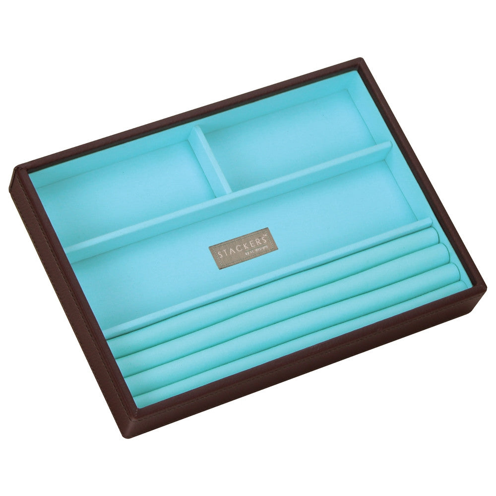 Stackers Chocolate & Brights Classic 4 Section Jewellery Tray