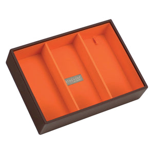 Stackers Chocolate & Brights Classic Deep 3 Section Jewellery Tray
