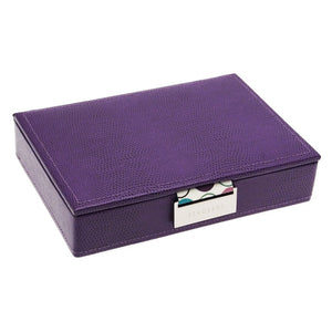 Stackers Mini Purple Spotty Stacker Jewellery Tray -Lid