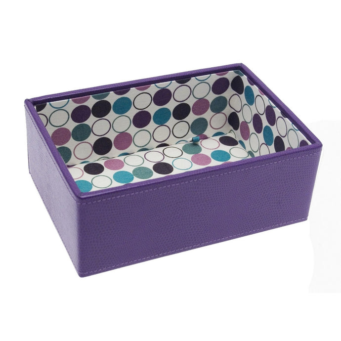 Stackers Mini Purple Spotty Stacker Jewellery Tray -Deep