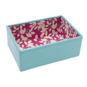 Stackers Mini Aqua Leaf Stacker Jewellery Tray -Deep
