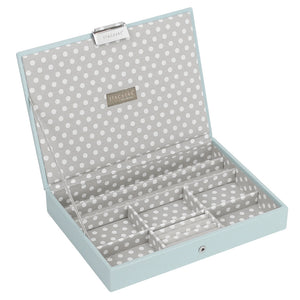 Stackers Duck Egg & Grey Classic Lidded Jewellery Tray