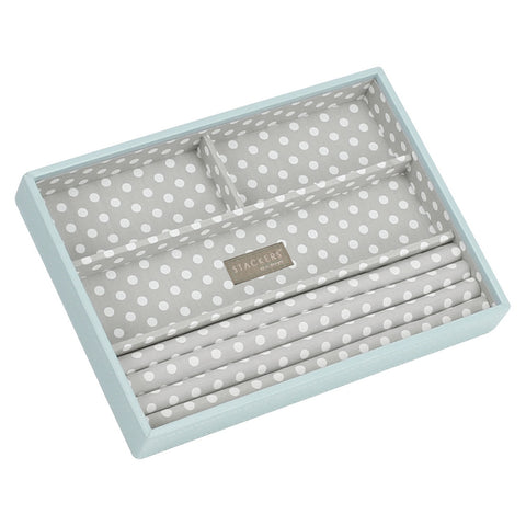Stackers Duck Egg & Grey Classic 4 Section Jewellery Tray