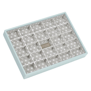 Stackers Duck Egg & Grey Classic 25 Section Jewellery Tray