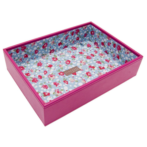 Medium Hot Pink Stacker Jewellery Tray -1 Deep Section