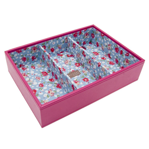 Stackers Medium Hot Pink Stacker Jewellery Tray -3 Deep Sections
