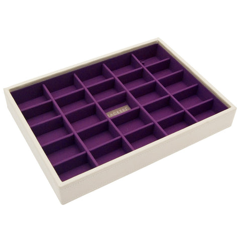 Stackers Cream & Purple Classic 25 Section Jewellery Tray