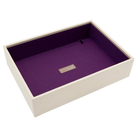 Stackers Cream & Purple Classic Deep Open Jewellery Tray