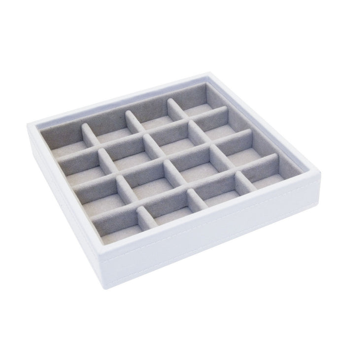 Stackers White Charm Stacker Jewellery Tray-Small Sections