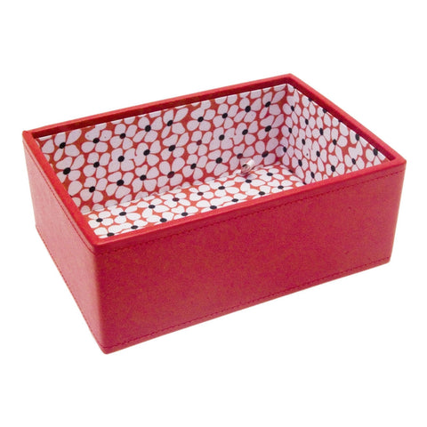 Stackers Mini Red Flower Stacker Jewellery Tray -Deep