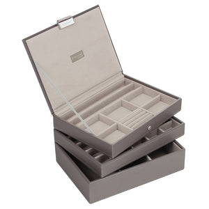 Stackers Mink & Grey Classic Set of 3 Jewellery Trays