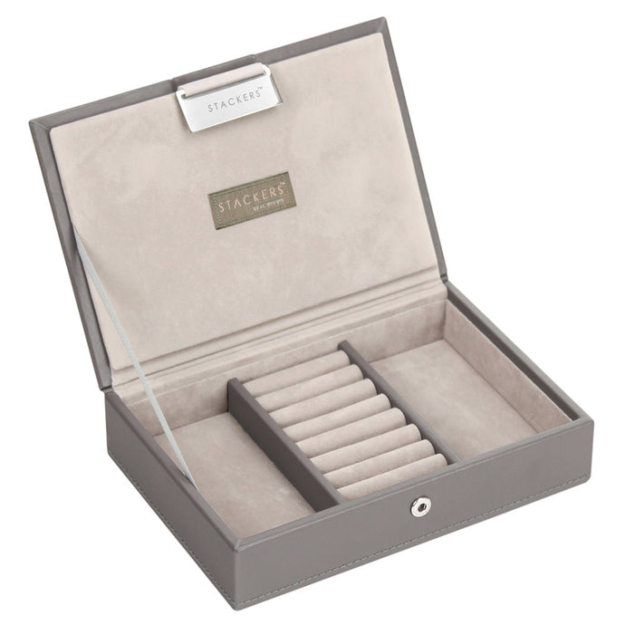 Stackers Mink & Grey Mini Lidded Jewellery Tray