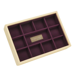 Stackers Cream & Purple Mini 11 Section Jewellery Tray