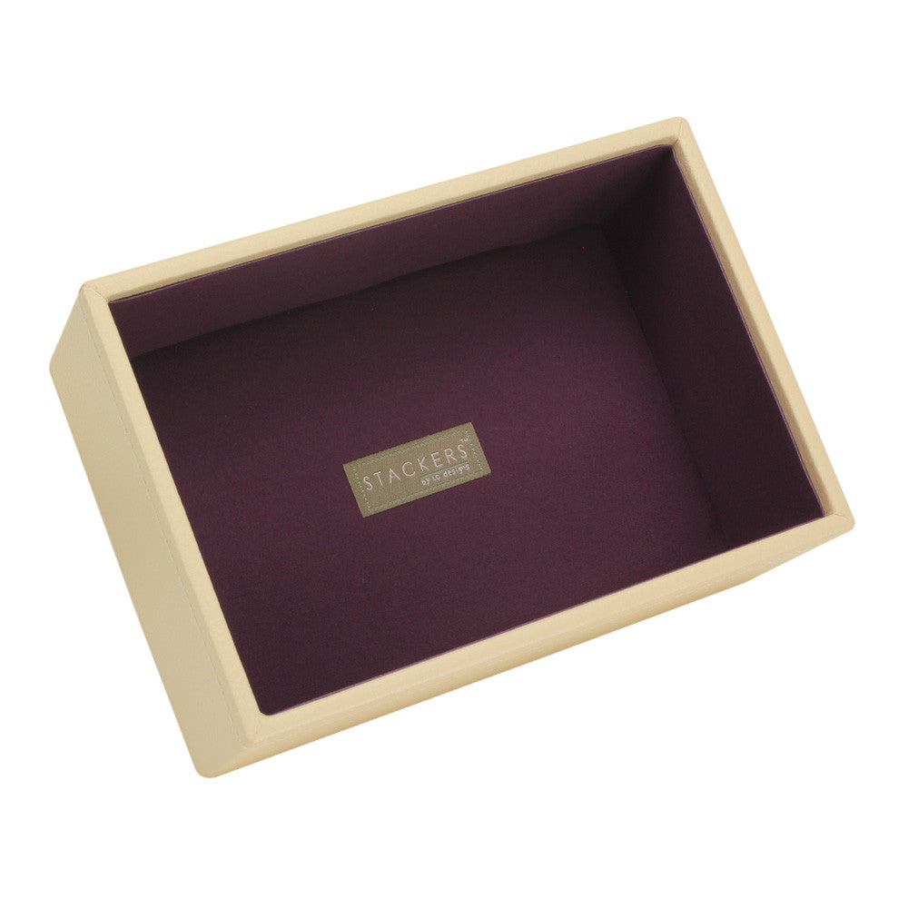 Stackers Cream & Purple Mini Deep Open Jewellery Tray