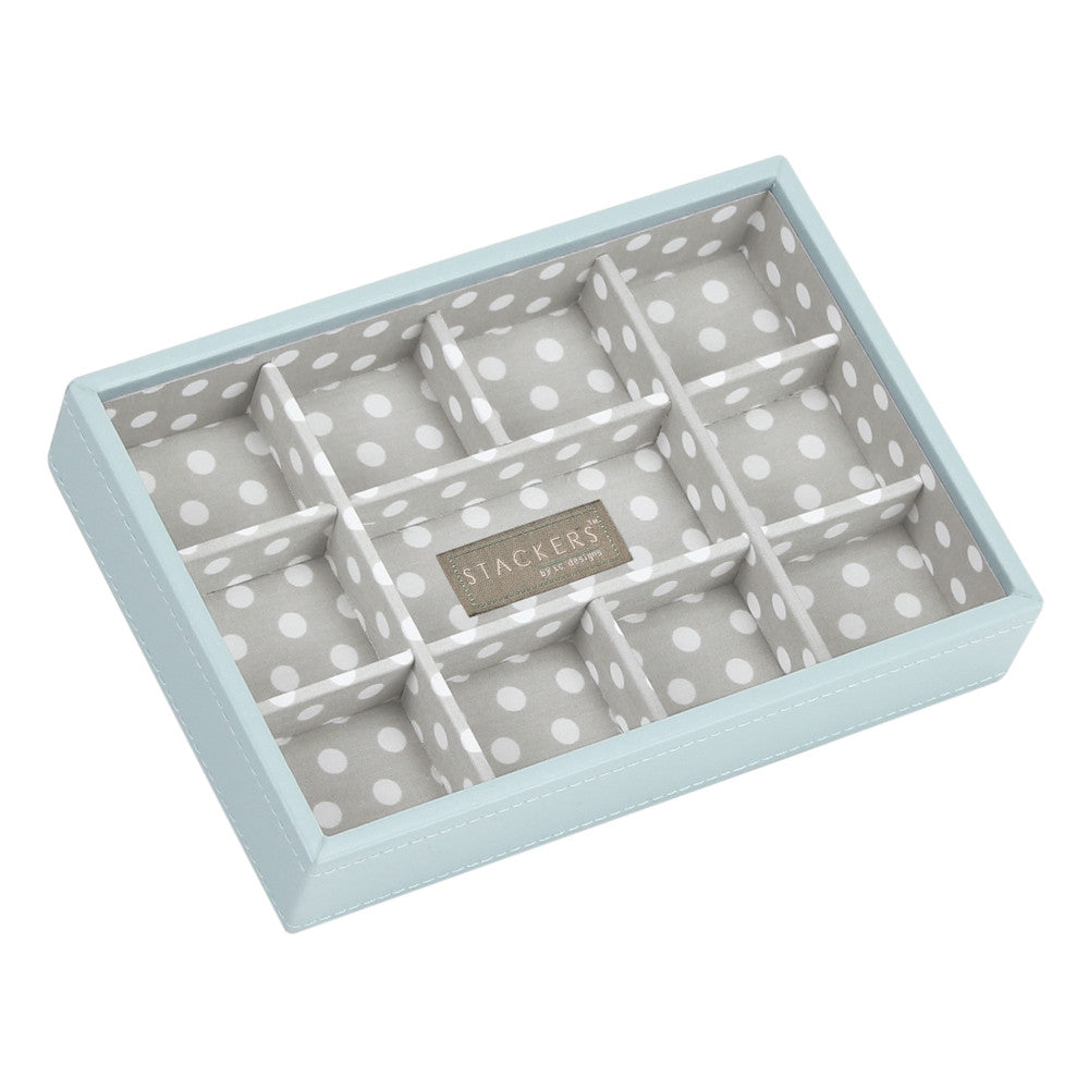 Stackers Duck Egg & Grey Mini 11 Section Jewellery Tray