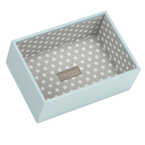 Stackers Duck Egg & Grey Mini Deep Open Jewellery Tray