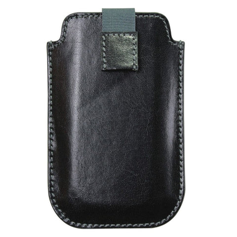 Dulwich Designs Leather Heritage Black iPhone Case