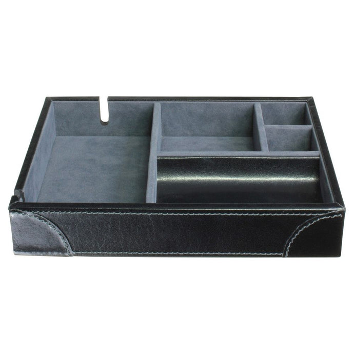 Dulwich Designs Leather Heritage Black Valet Tray