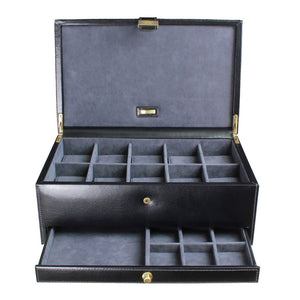 Dulwich Designs Leather Heritage Black 1 Piece Watch Box