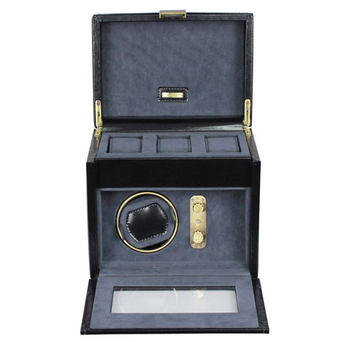 Dulwich Designs Leather Heritage Black Single Watch Winder