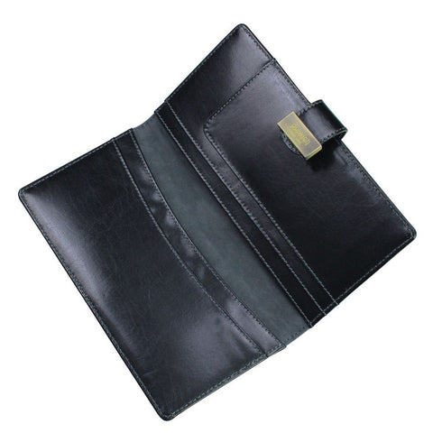 Dulwich Designs Leather Heritage Black Travel Wallet