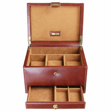 Dulwich Designs Leather Heritage Chestnut 3 Piece Watch Box