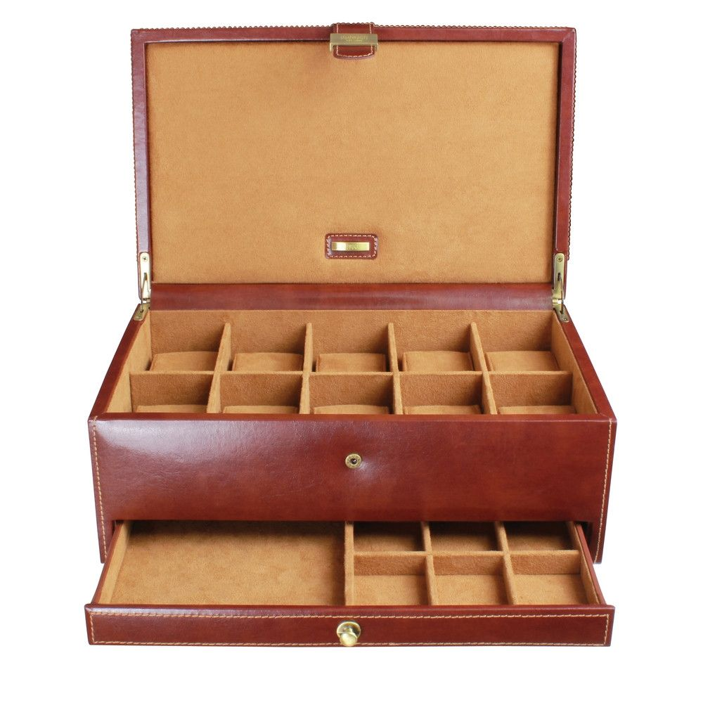 Dulwich Designs Leather Heritage Chestnut 1 Piece Watch Box