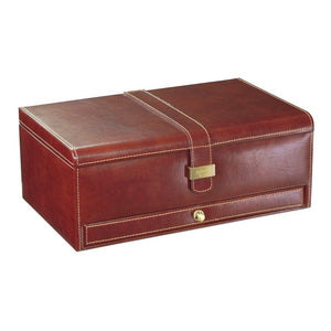 Dulwich Designs Leather Heritage Chestnut 10 Piece Watch Box