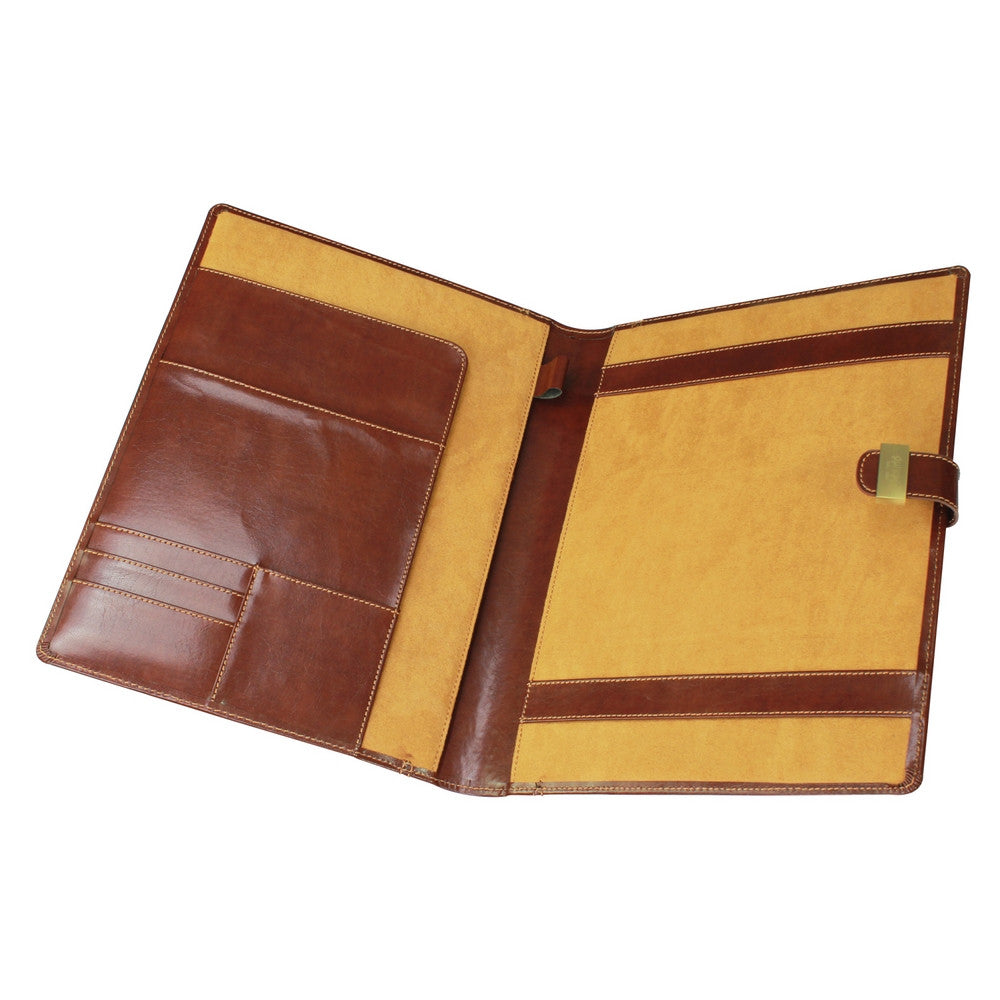 Leather Heritage Chestnut A4 Document Folder