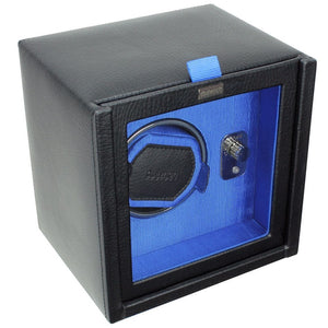 Dulwich Designs Leather Eclipse Single Watch Winder/Rotator Blue