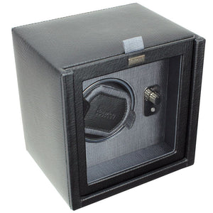 Dulwich Designs Leather Eclipse Single Watch Winder/Rotator Grey