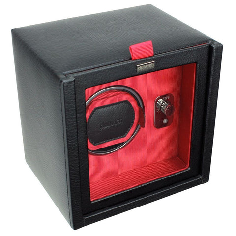 Dulwich Designs Leather Eclipse Single Watch Winder/Rotator Red