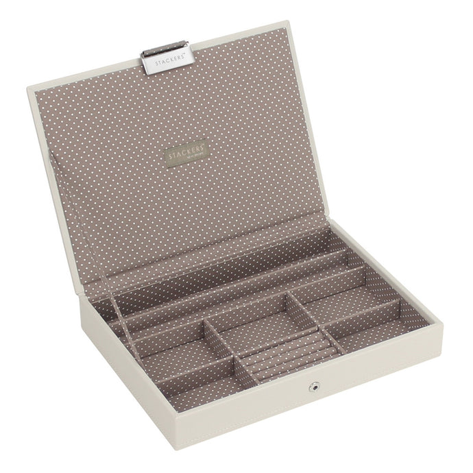 Stackers Vanilla & Mocha Classic Lidded Jewellery Tray