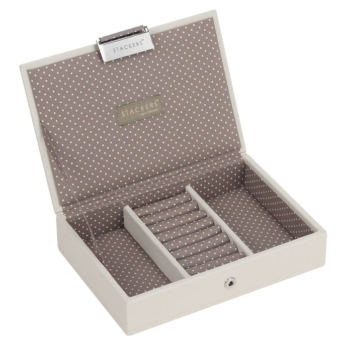 Stackers Vanilla & Mocha Mini Lidded Jewellery Tray