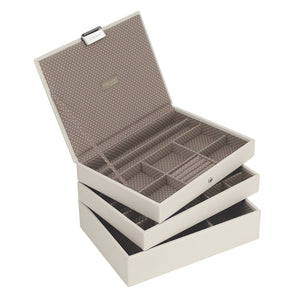 Stackers Vanilla & Mocha Classic Set of 3 Jewellery Trays