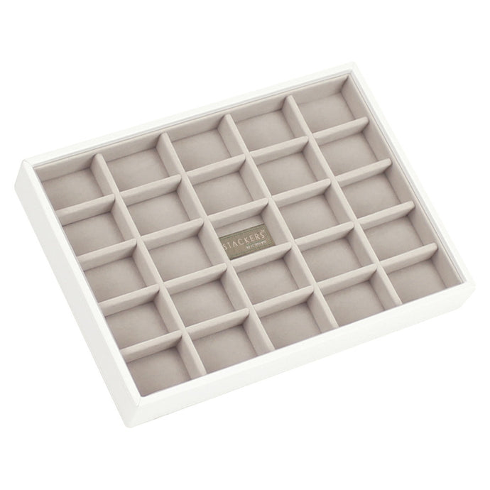 Stackers White & Grey Classic 25 Section Jewellery Tray