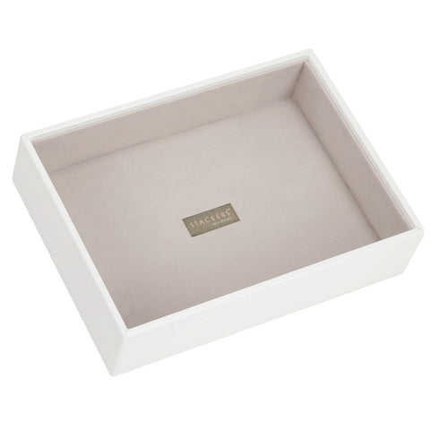 Stackers White & Grey Classic Deep Open Jewellery Tray